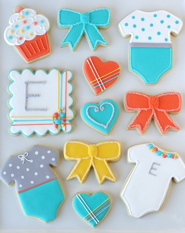 Modern Baby Shower Cookies - by Glorious Treats