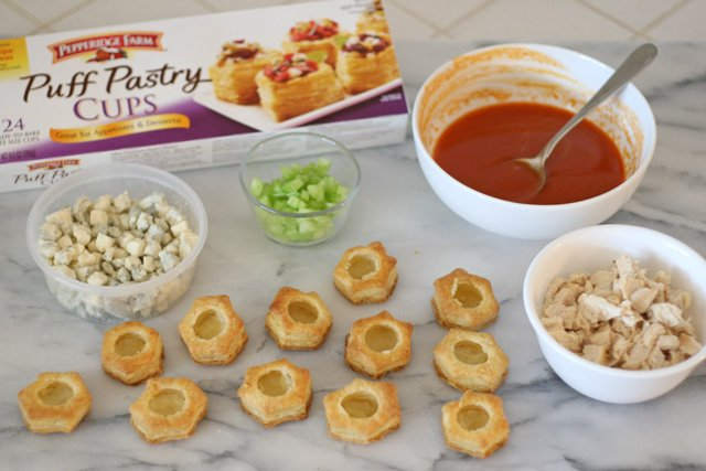Buffalo Chicken Pastry Bites - glorioustreats.com