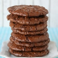 Flourless Chocolate Cookies - Rich, Fudgy and so delicious!! glorioustreats.com