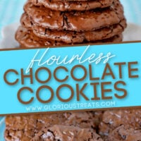 flourless chocoalate cookies Diagonal Pin Pinterest