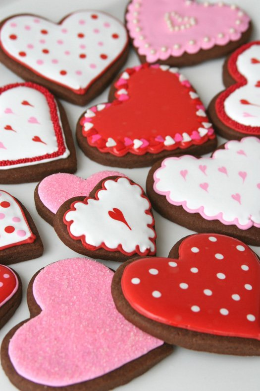Chocolate Valentine's Roll-Out Cookies - glorioustreats.com