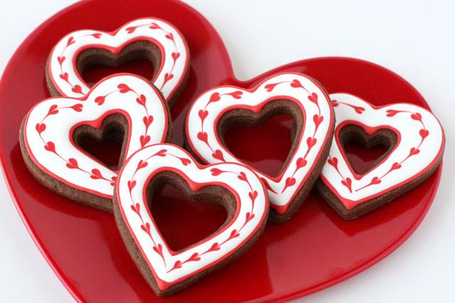 Valentine's Heart Cookies - glorioustreats.com
