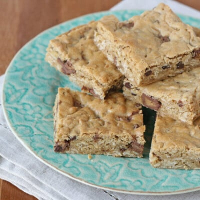 Oatmeal Peanut Butter Bars - glorioustreats.com