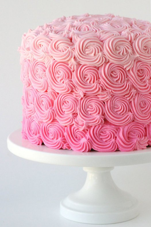 Pink Ombre Swirl Cake (beautiful inside and out!) - glorioustreats.com