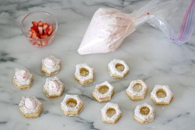 How to make Strawberry Cream Puffs - glorioustreats.com