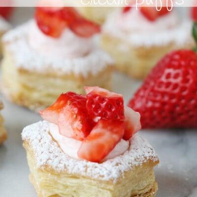 Strawberry Cream Puffs - glorioustreats.com