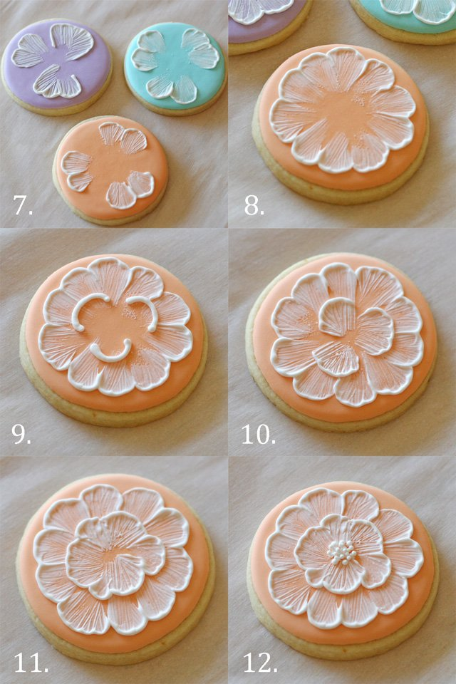 How to do brush embroidery on cookies - glorioustreats.com