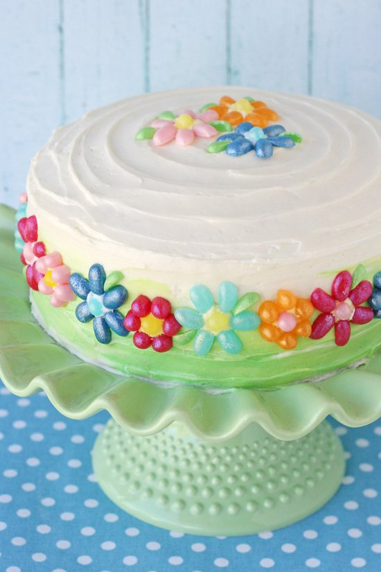 Jelly Belly Flower Cake - glorioustreats.com