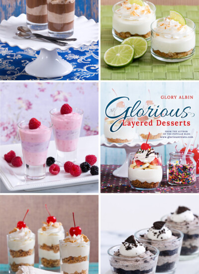 Glorious Layered Desserts Cookbook - available on Amazon and glorioustreats.com