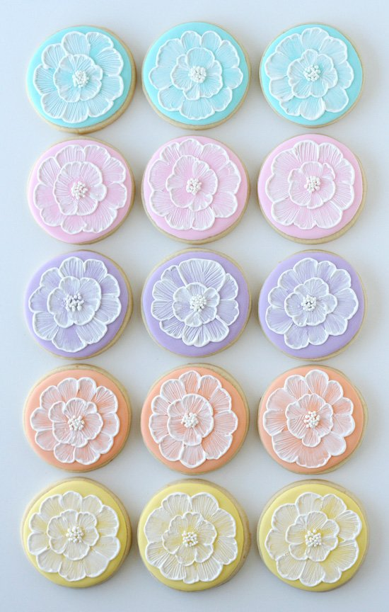 Pretty Pastel Decorated Cookies - glorioustreats.com