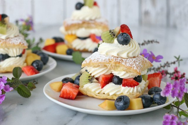 Fresh Fruit Cream Puffs - via GloriousTreats.com