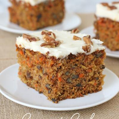 Classic, homemade and delicious! Carrot Cake Recipe - via GloriousTreats.com