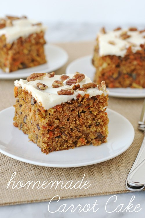 Delicious homemade Carrot Cake!  - via GloriousTreats.com
