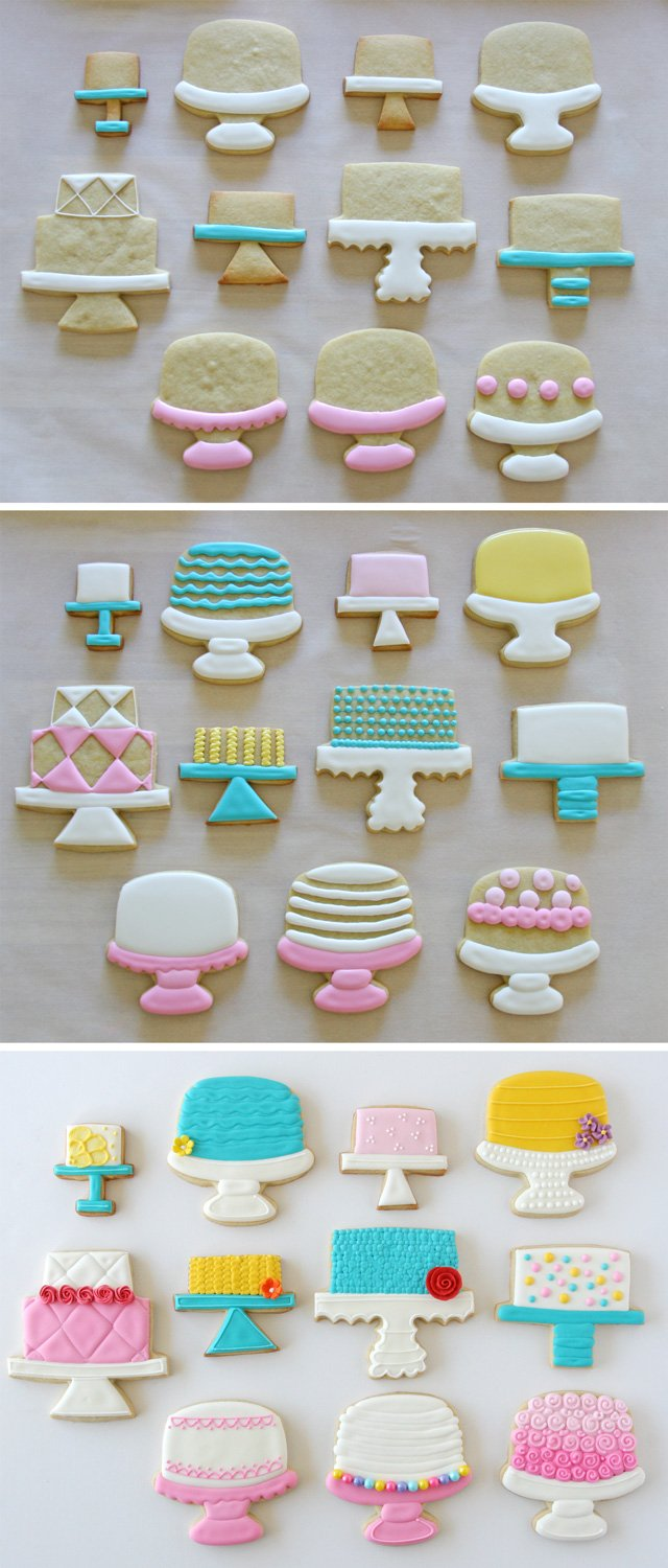 Cake Stand Decorated Cookies - GloriousTreats.com