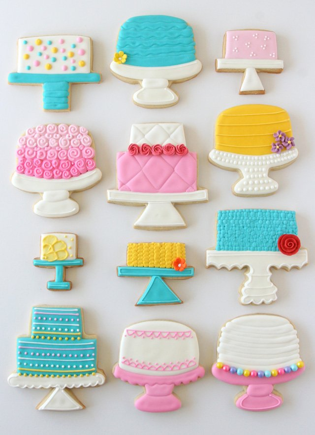 Beautiful Cake Stand Decorated Cookies!!  - GloriousTreats.com