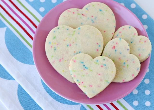 Sprinkle Roll-Out Sugar Cookies - via GloriousTreats.com