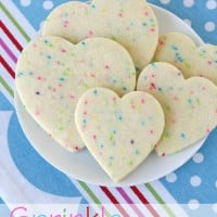 Sprinkle Sugar Cookies - The perfect roll-out cookie just got cuter! - via GloriousTreats.com