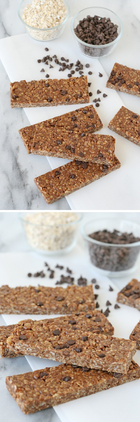 Easy, healthy and delicious!! Homemade Peanut Butter Chocolate Chip Granola Bars