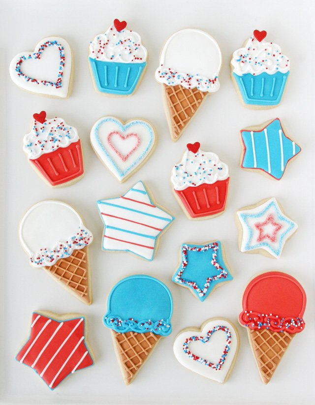 4th of July Decorated Cookies - GloriousTreats.com