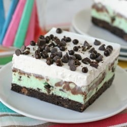 Mint Chip Brownie Ice Cream Squares - Simply INCREDIBLE!!