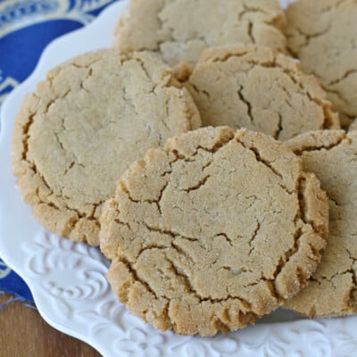 This Chewy Peanut Butter Cookie Recipe will remind you how good a classic cookie can be!!