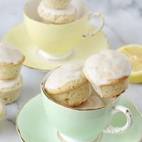 Lemon Poppyseed Poundcake Muffins - GloriousTreats.com