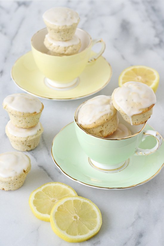 Lemon Poppyseed Mini Poundcake Muffins - GloriousTreats.com