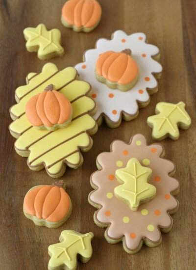 Fall Decorated Cookies with recipe and tutorial