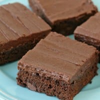 Rich, fudgy and oh so amazing!! Frosted Fudge Brownies