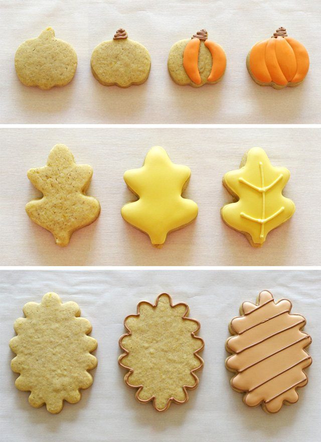 Fall Decorated Cookies step by step