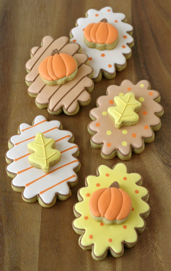 Fall Decorated Cookies with Pumpkin Spice Cookie Recipe