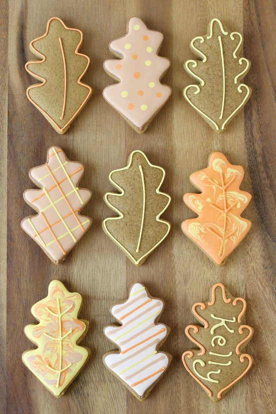 Decorated Leaf Cookies - Simply beautiful cookie ideas!