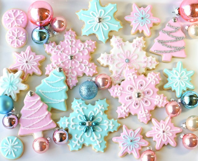 Pastel Christmas Cookies - Simply stunning!