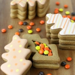 Thanksgiving Gingerbread Cookie Boxes - So cute and creative! Find all the step-by-step directions on GloriousTreats.com