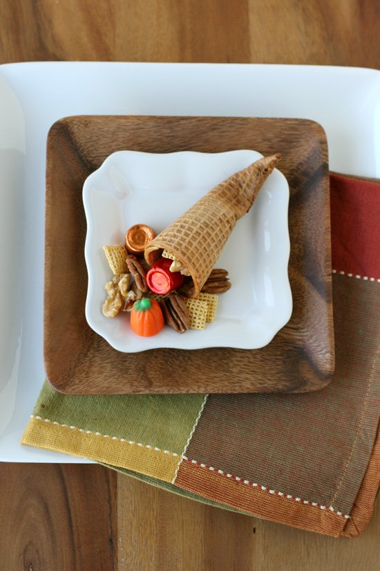 Thanksgiving Cornucopia Snack