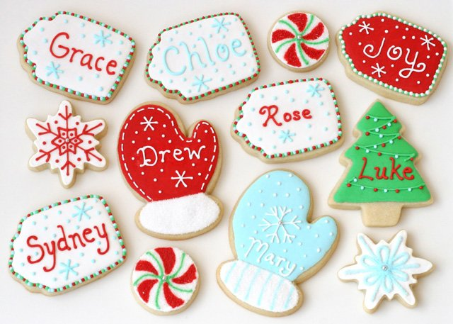Christmas Cookie Tags - Such a cute idea for personalized cookies!
