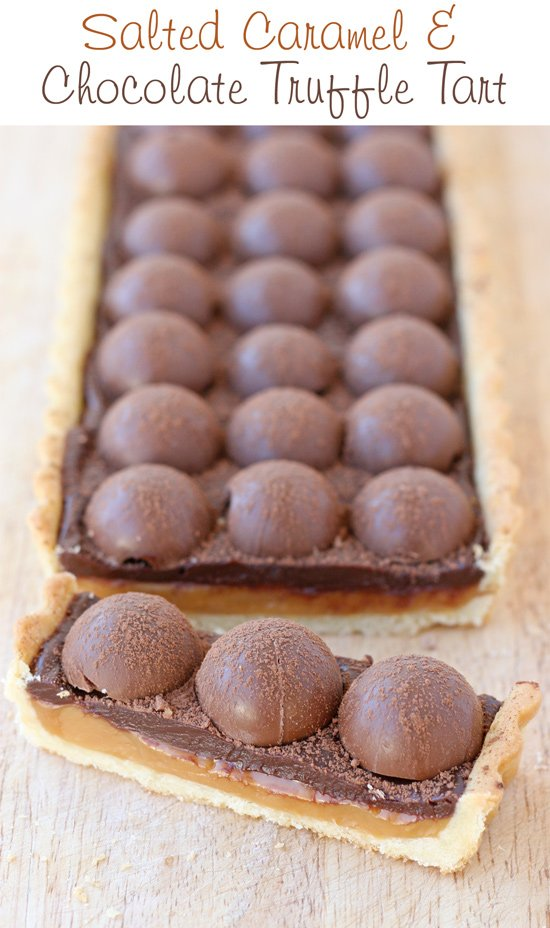 Rich, decadent and amazing! Salted Caramel & Chocolate Truffle Tart by @GloriousTreats