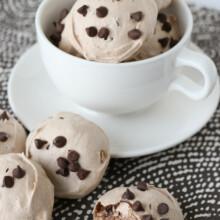 Light, crisp, sweet and delicious Mocha Meringue Cookies!