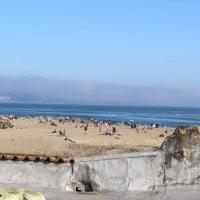 View of Capitola Beach from Capitola Venetian Hotel, Capitola, CA