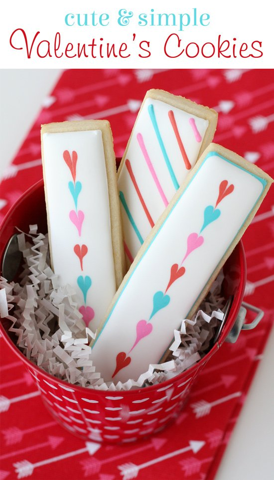 Simply adorable Valentine's Cookie Sticks!