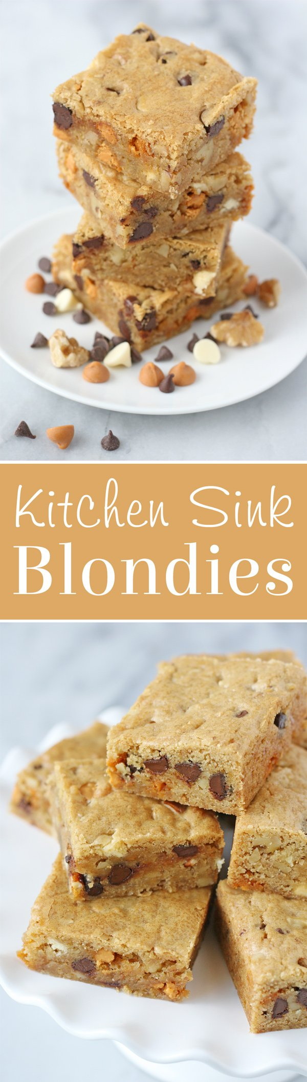 Simply the BEST Blondie recipe! Add in mix-ins of your choice!