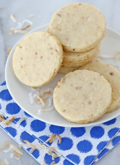 These Coconut Cutout Cookies are delicious as is, but are the perfect canvas for decorating too!