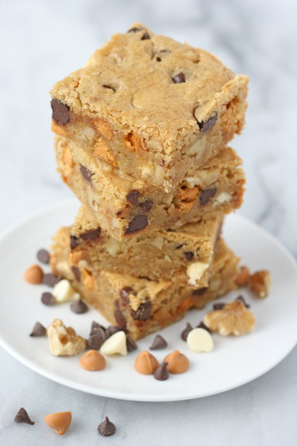 Simply the BEST Blondie recipe! Add mix-ins of your choice!