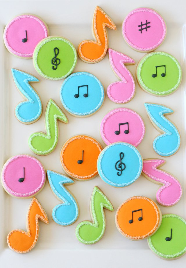 Music Note Decorated Cookies