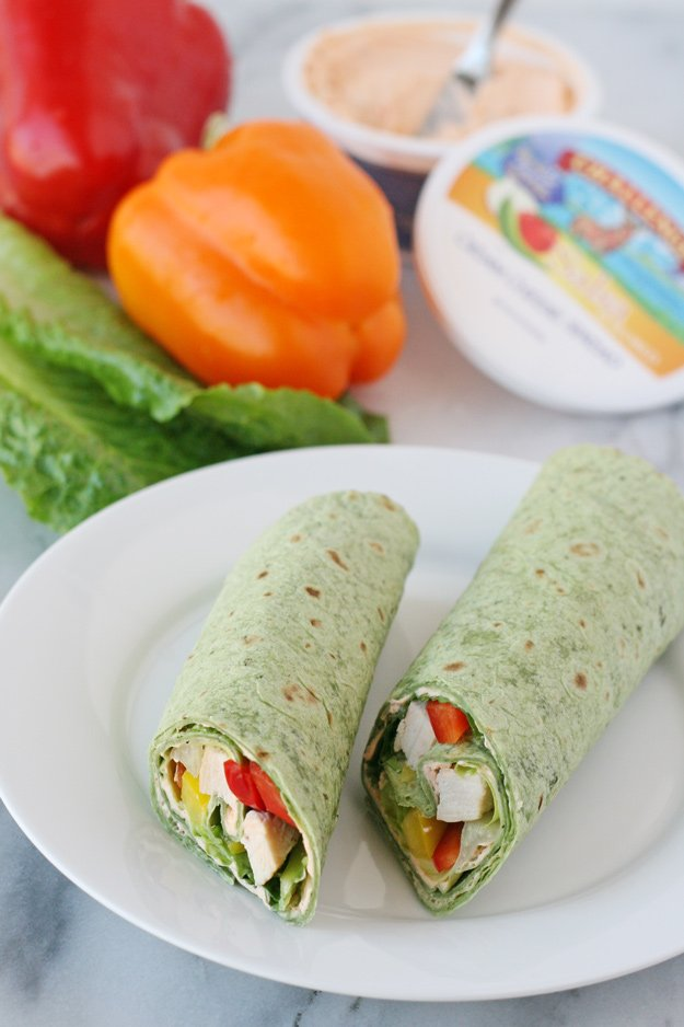 These fresh and delicious Chicken Wraps are perfect for picnics, parties and lunchboxes!
