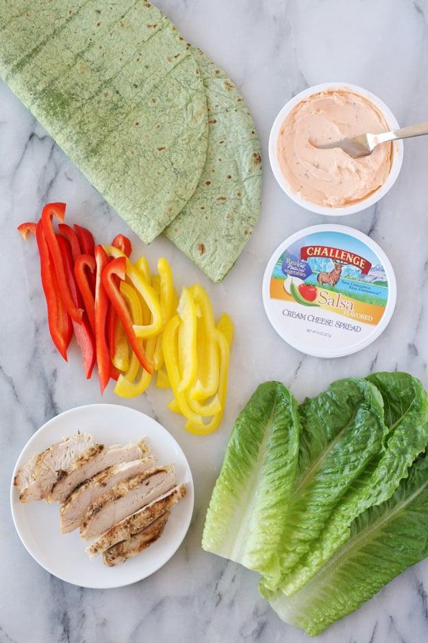 Salsa Cream Cheese Chicken Wraps Glorious Treats