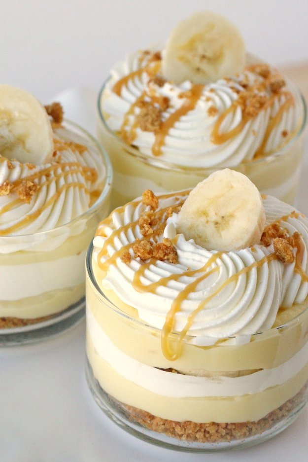 Banana Caramel Cream Dessert | Simply the most incredible dessert!  Everyone LOVES this!
