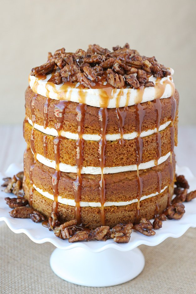 Pumpkin Chocolate Salt Caramel Cake Recipe — Dishmaps