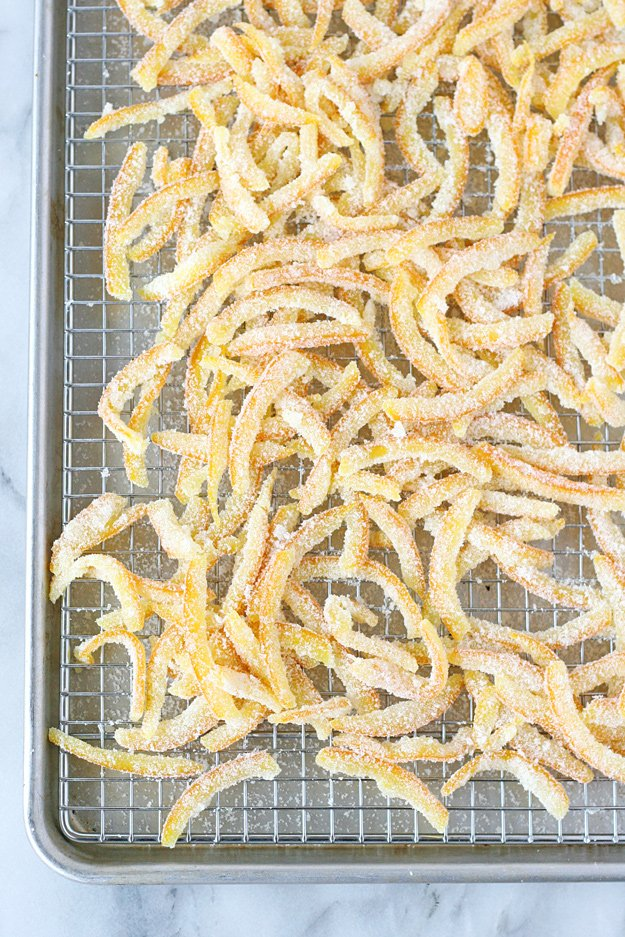 This Candied Orange Peel is sweet, crisp, flavorful and perfect for adding to muffins, cookies and cakes.