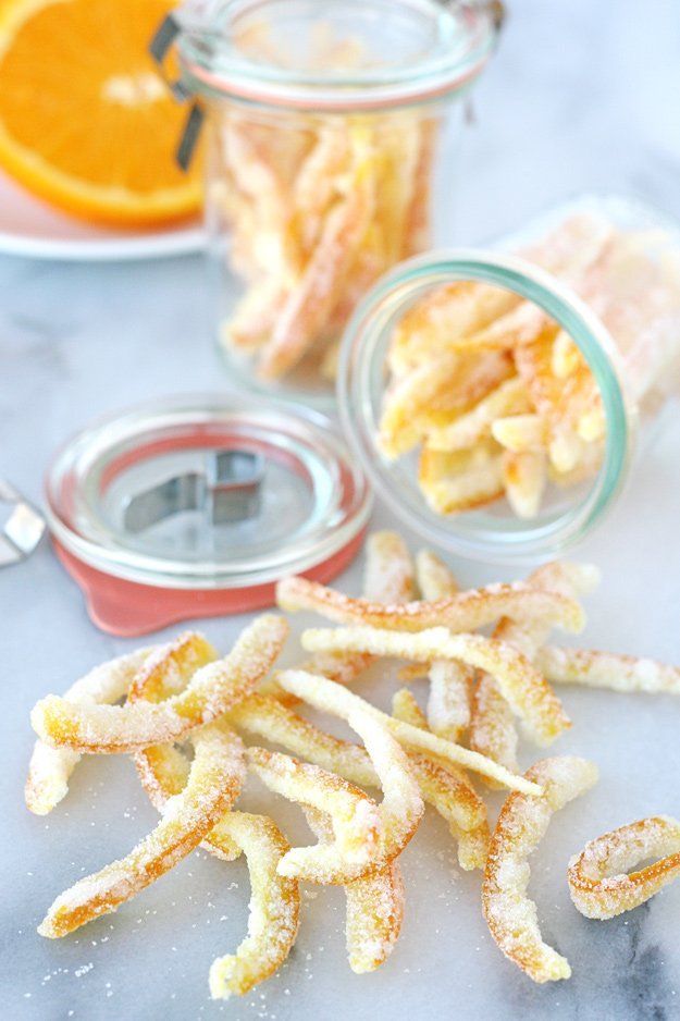 This Candied Orange Peel is sweet, flavorful and perfect for adding to muffins, cookies and cakes.